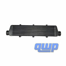 "New Aluminum Black Bar&Plate  Front Mount  Turbo Intercooler  27""X5.5""X2.5"""