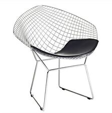 Bertoia Wire Diamond Chair Replica - Black Seat