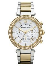 Michael Kors MK5626 Parker Two Tone Gold Silver Chronograph Ladies Watch