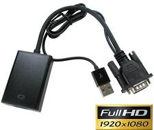 NewLink PC VGA a HDMI Convertitore Di Potenza 1920x1080p e da Audio Connettore USB