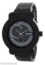 Kings Master Men Black Ion-plated Steel Silver tone Dial 0.12ct. Diamond Watch