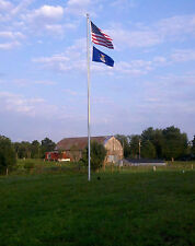 "20' ft. Flagpole Aluminum 1 Pc. 3"" Bottom Diameter External Flag Pole USA Made"