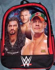 WWE John CENA Roman Reigns Randy Orton Backpack NeW Full Size Canvas Book Bag