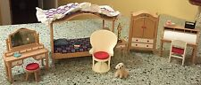 Tomy Vintage Smaller Homes Dollhouse Furniture for Bedroom & Roll Top Desk