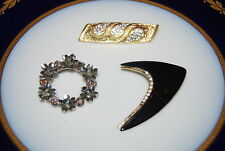 WONDERFUL VINTAGE SET OF THREE ASSORTED PINS OR BROOCHES AS PER PICTURES # M-021