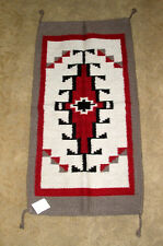 "Throw Rug Tapestry Southwest Western Hand Woven Wool 20x40"" Replica #305A"