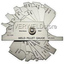 7 piece fillet weld set & RL gauge welding gage Welder Inspection Test Ulnar