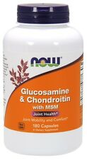 Now Foods Glucosamine & Chondroitin with MSM, 180 Capsules