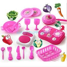Deluxe Children Kitchen Cooking Pretend Play Set Utensils Accessories Kids Toys