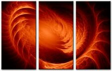 3 Panel Total 120x80cm Large ABSTRACT ART CANVAS  DIGITAL SOLAR Orange