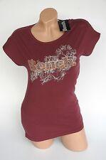 Bench T-Shirt Nadine TEE  burgund dunkelrot S  Neu