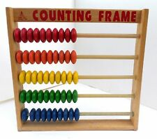 Kinder Care Wooden Toys 50 Bead Abacus Counting Frame Great Condition!