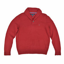 TOMMY HILFIGER Herren Pullover S/P 48 rot Strick Men Sweat Pulli Jumper TOP