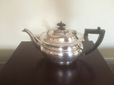 LOVELY SILVER PLATED TEAPOT POT ON A RAISED FOOT (Inscribed) (SPTP 0890)