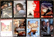 BULK LOT OF 8 x DVD FILMS ALL IN GOOD+ CONDITION REVAMPING MY COLLECTION