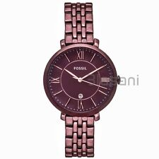 Fossil Original ES4100 Women's Jacqueline Wine Stainless Steel Watch 36mm