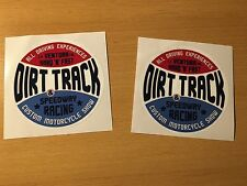 2x DIRT TRACK Aufkleber Sticker Motocross Bike Pocket Scrambler Tracker NEU M008