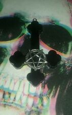 Handmade Inverted Cross Necklace Large Pendant Satan Occult Gothic Witch