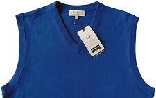 Men's TURNBURY Atlantic Blue Merino Wool Sweater Vest X-Large XL NEW NWT BIELLA