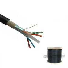 CAT6 1000FT FTP SHIELDED OUTDOOR 23 AWG 550 CABLE WIRE SOLID DIRECT BURIAL UV