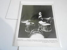 #911 VINTAGE 8x10 MUSICIAN PHOTO - HOHNER SONOR DRUMS - CONNIE KAY modern jazz q