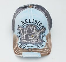 NEW TRUE RELIGION DISTRESSED BUDDHA NAVY MEN WOMEN HAT TRUCKER CAP UNISEX