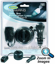 Ring RMS8 12v Car Van Caravan Cigarette Lighter Socket Extension Leed Cable Reel