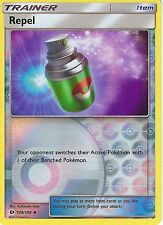 POKEMON SUN & MOON CARD: REPEL - 130/149 - REVERSE HOLO