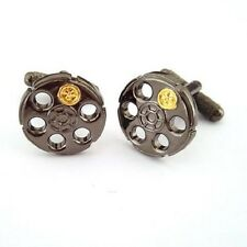 Russian Roulette Cufflinks Gift Box - Onyx-Art London CK950 Fun Novelty Gift