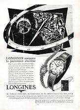 ▬► PUBLICITE ADVERTISING AD Montre Watch LONGINES 1954