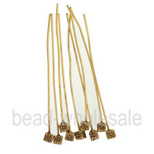 20pcs Antique Silver/Gold Tone Long Head Alloy Pins Finding For Jewelry Making