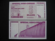 ZIMBABWE  5 Billion Dollars 15.5.2008  (P61)  UNC
