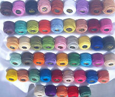 50 ANCHOR Pearl Cotton Balls New. 50 different Size 8 (85 Meters each) Bargain