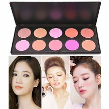 10Color Beauty Makeup Cosmetic Powder Palette Blush Blusher Palette Tool Set Kit