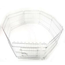 "25"" 8-Piece Foldable Electro Galvanized Fence Small Pet Play Pen Exercise Cage"