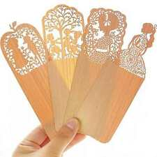 New Retro Wooden Hollow Bookmark Book Mark Office School Supply Gift 3pcs/set