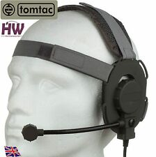 Airsoft tomtac Bowman Evo III 3 Micro casque BOOM gris vert casque radio UK