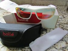 NEW BOLLE ORIGIN WHITE SUNGLASSES W/ CASE POLARIZED #11453  FREE SHIP