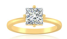 1.00 Ct Princess Cut Diamond Ring 14K Hallmarked Gold Ring Diamond Ring