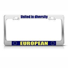 UNITED IN DIVERSITY EUROPEAN UNION License Plate Frame
