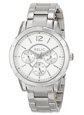 Relic By Fossil Peyton Multi Silver Tone Women's Watch NWT! $100