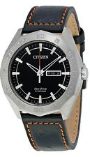 Citizen Eco-Drive Super Titanium Leather Mens Watch AW0060-03E