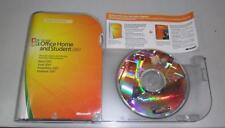 Microsoft Office 2007 Home & Student Full Retail 3 PCs w/case, Product Key