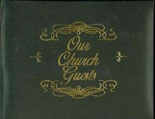 Large Bonded Leather Church Guest Book - Black - Wedding - Funeral - Family Etc.
