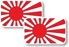 Vinyl sticker/decal Small 70mm Japan rising sun flag - pair