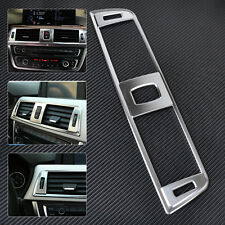 Chrome Dashboard Central Console Air Vent Cover Trim for BMW 3 Series F30 13-16