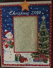NEW 2010 EXPOSURES Picture FRAME Vertical Hand Painted Christmas SNOWMAN Tree