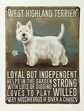 West Highland Terrier SML - Tin Metal Wall Sign