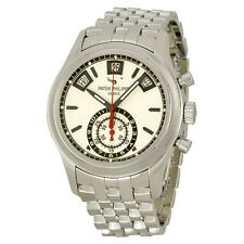 Patek Philippe Complications Silver Dial Chronograph Stainless Steel Mens Watch