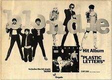 1/4/78PN05 ADVERT: BLONDIE HIT ALBUM PLASTIC LETTERS 11X15